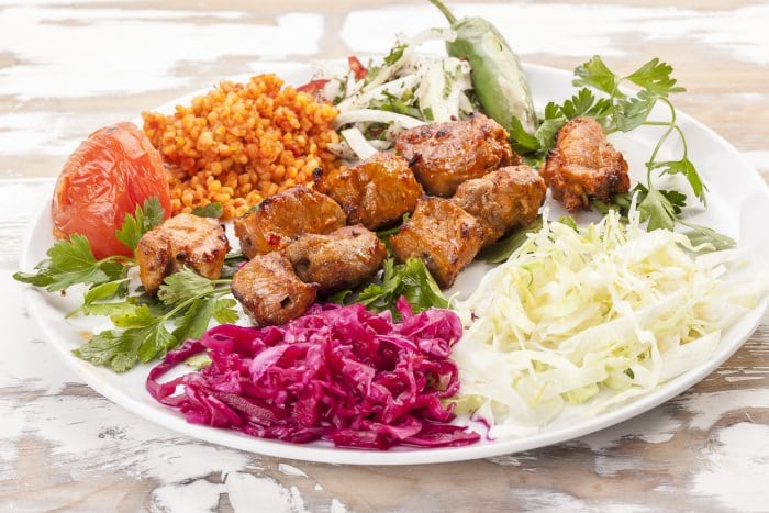Rotisserie Lamb kebab